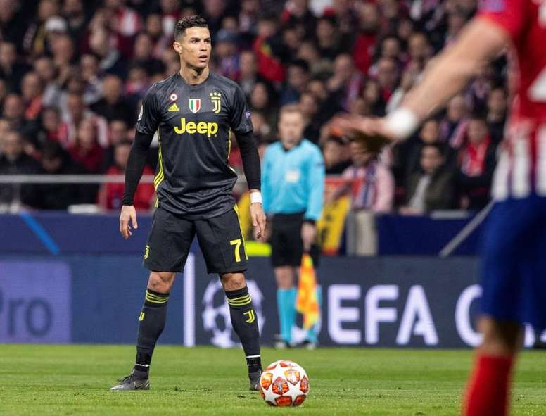 Ronaldo against Atletico in the Champions League. EFE