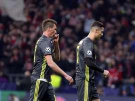 Juventus con un piede fuori dalla Champions.EFE