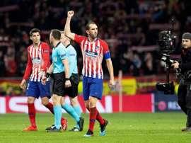 Godín habló tras la victoria atlética en el Metropolitano. EFE