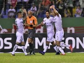 Santos Laguna volvió a golear. EFE