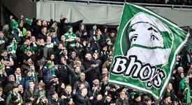La afición del Celtic ya se deja sentir por Valencia. EFE