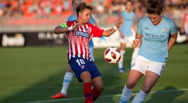 El Atleti es líder en la Liga y jugará la final de Copa. EFE