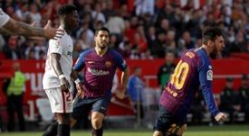 Leo Messi cuajó un encuentro estelar. EFE