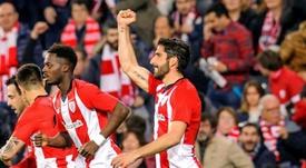 Raúl García anotó el único tanto del Athletic en el partido. EFE