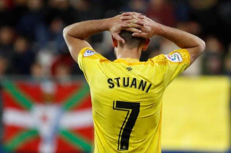 Stuani sufrió una recaída ante el Levante. EFE