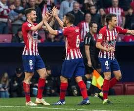 Koke, Saúl e Thomas são peças importantes do projeto do Atlético. EFE