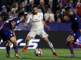 Prováveis escalações de Levante e Real Madrid. EFE