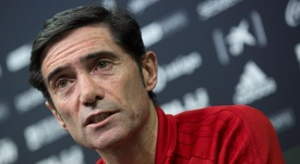 Marcelino defendió la actitud de sus jugadores. EFE