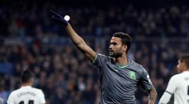 Willian José ya es el máximo goleador de la Real junto a Odegaard. EFE