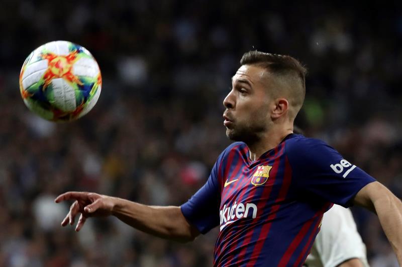 Jordi Alba analizó la clasificación del Barça a la final. EFE