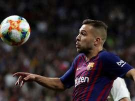 Jordi Alba analysed Barca ahead of the final. EFE