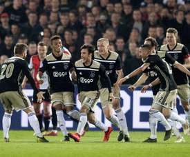 L'Ajax est le premier finaliste de la Coupe des Pays-Bas. EFE