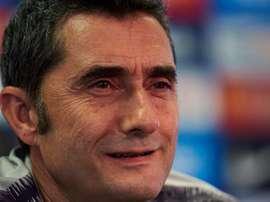 Ernesto Valverde a parlé des débuts de Todibo avec le Barça. EFE/Archive