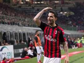 Suso poderia deixar o Milan ainda esse mês. EFE/EPA