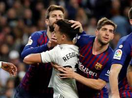 Sergi Roberto's agent has made clear that the player (R) will remain a Barca player. EFE