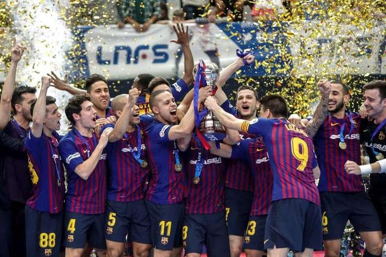 El Barça Lassa, vigente campeón, se medirá al Movistar Inter. EFE