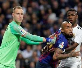 Valverde encense Vidal. EFE