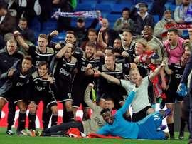 El partido que 'ayudó' al Ajax a eliminar al Madrid. EFE