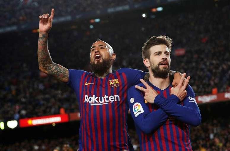 Arturo Vidal ha querido dejar un mensaje al FC Barcelona. EFE