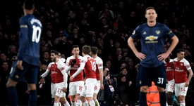 Arsenal moved back up to fourth with victory over Manchester United. EFE