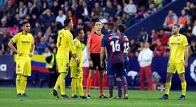 Tras la derrota ante el Villarreal. EFE