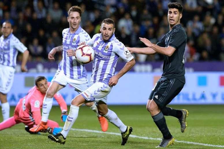 El Real Madrid goleó a un Valladolid sin suerte. EFE