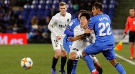 Kang-In Lee no jugará más con el Valencia esta temporada. EFE/Archivo
