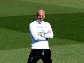 Zidane al suo primo allenamento. EFE