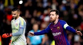 O Barcelona venceu e seguiu para os quartos da Champions. EFE