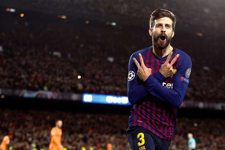 Gerard Pique will play in a Catalonian shirt next Monday. EFE