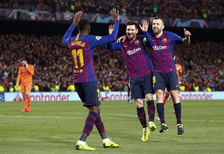 Le Barça entre (un peu plus) dans l'histoire. EFE