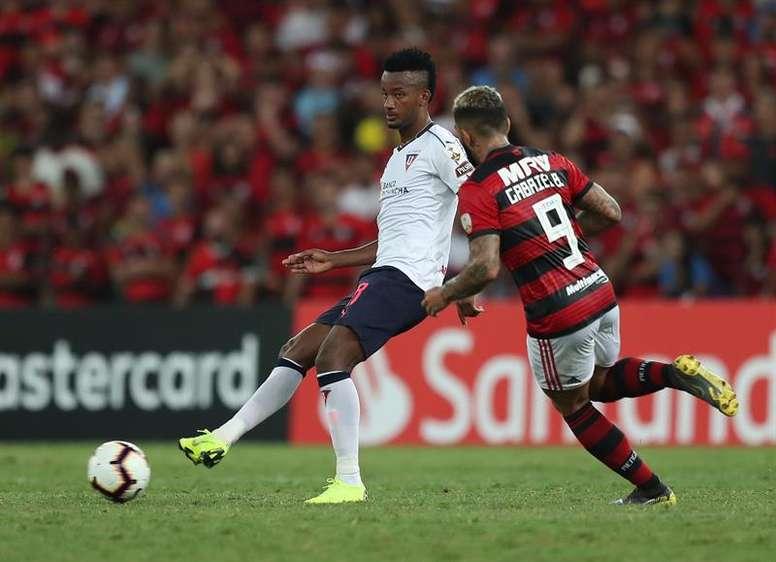 Flamengo le endosó un 3-1 a Liga de Quito. EFE