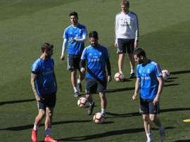 Les compos probables du Real Madrid. EFE