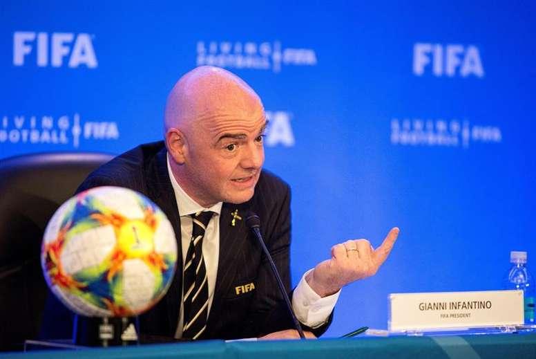 Infantino defendió el nuevo Mundial de Clubes. EFE