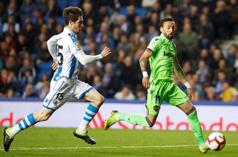 Real Sociedad y Levante se repartieron los puntos. EFE/Archivo