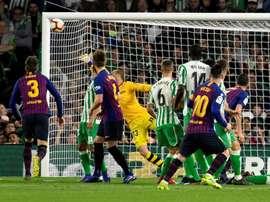 Canales s'est incliné face à Messi. EFE