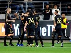 Los Angeles FC logró igualar el partido gracias a Vela. EFE