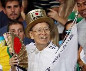 Foto de archivo del aficionado japonés Naotoshi Yamada durante una competición de lucha de los Juegos Olímpicos de Rio 2016, en Río de Janeiro (Brasil). EFE/Archivo