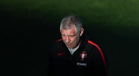 Treinador da Seleção de Portugal se irrita com pergunta de jornalista. EFE