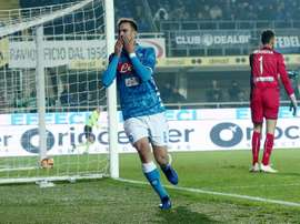 Fabian Ruiz will not be renewing his Napoli contract for the time being. EFE