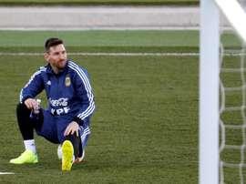'COPE': Messi se resiente de su lesión en el pubis. EFE
