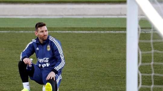 Messi já abandonou a comitiva argentina e já está em Barcelona. EFE