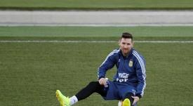 'COPE': Messi ainda sente a sua lesão no púbis. EFE