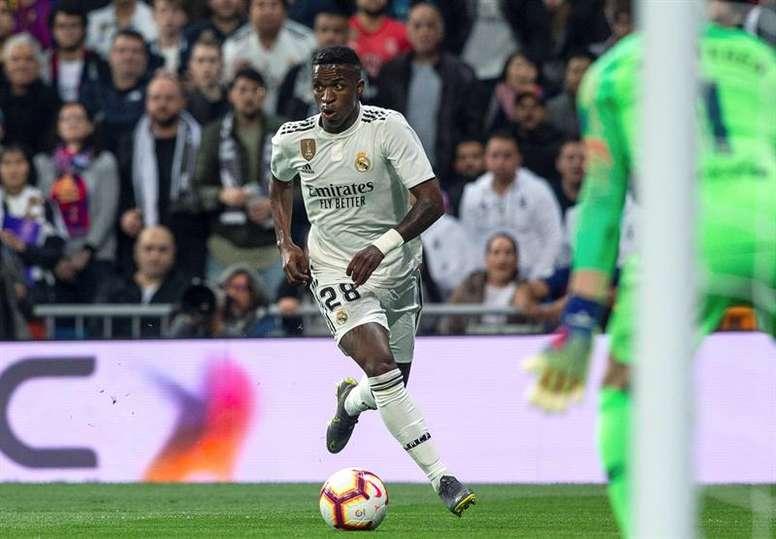 Vinicius está encantado en el Real Madrid. EFE