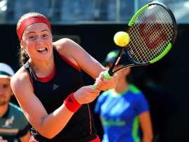 En la imagen, la tenista letona Jelena Ostapenko. EFE/Archivo