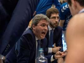 El entrenador del Delteco Gipuzkoa Basket, Sergio Valdeolmillos. EFE/Archivo