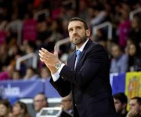 Ibon Navarro, entrenador español del MoraBanc Andorra. EFE/Archivo