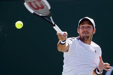 En la imagen, el tenista serbio Dusan Lajovic. EFE/Archivo