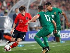 Bolivia, derrotada sólo al final por Corea del Sur. EFE