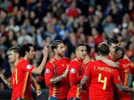 A Espanha venceu e entra com o pé direito na fase de qualificação para o Euro. EFE